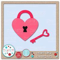 Heart Lock Cutting Files Afgelaai