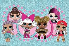 L Surprise - Poster (Group) (Size: 36 inches x 24 inches) Wallpaper Infantil, Lol Doll Cake, Groups Poster, Little Pony Party, Hello Kitty Wallpaper, Disney Cakes, Lol Dolls, Silhouette Projects, Cool Wallpaper