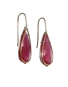 Heather Moore earrings: Caged Ruby Earrings