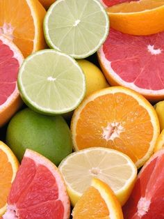 pink and green citrus