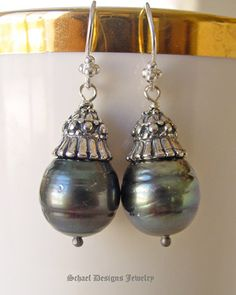black tahitian pearl earrings- one of my favorites:)