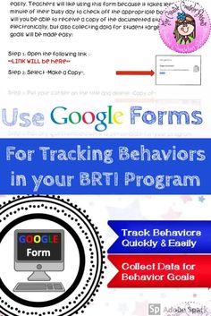 Organize & streamline your Behavior RTI program. This form is created using Google forms and can be copied to your Google Drive. Teachers can complete a questionnaire & make a referral electronically. You will receive a notification every time a student is recommended. Collecting data for your BRTI program will be made easy! #BRTI #GoogleForm #BRTIreferral #DataCollection #CreativeCounselor #CreativeCounselingResources Elementary School Counselor, Elementary Schools, Response To Intervention, No Response, Responsive Classroom, Counseling Activities, Data Collection, Google Drive, Make It Simple