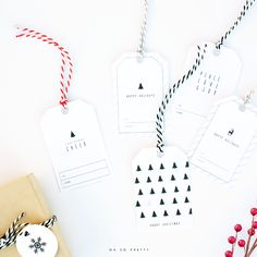 Free Printable Gift Tags, Just pinned this yesterday but actually printed them out today. Super easy and they turned out great!