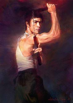 .Bruce Lee Artwork by Sebastian Cheng
