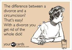 Divorce funny, divorce humor, that's hilarious, haha funny, funny pix. Le Divorce, Divorce Party, Divorce Humor, Dating Quotes, Life Quotes, Woman Quotes, Haha Funny, Lol, Funny Stuff