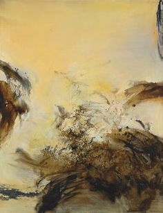thunderstruck9:  Zao Wou-Ki (Chinese, 1921-2013), 28.4.75, 1975. Oil on canvas.