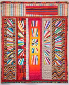 Sun Shine by Sharona Fischrup, quilted by New Pieces Quilt Shop.  Photo by The Plaid Portico.