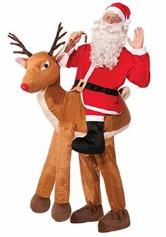 Adult Rudolph Reindeer Hat Novelty Plush Toy Fun Christmas Fancy Dress Scarf New