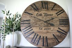 High quality, solid wood clocks made in the USA. Handmade Clocks, Pine Walls, Wood Clocks, Dark Brown, Solid Wood, Free Shipping, Home Decor, Decoration Home, Room Decor