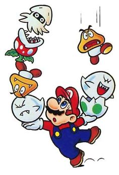 """thevideogameartarchive: """"The final piece of art from Yoshi / Mario & Yoshi - Mario himself! In the game he's the one balancing all the enemies coming down and putting them into Eggs! [The Video Game Art Archive] [Support us on Patreon] """" Super Mario Bros, Mundo Super Mario, Super Mario World, Super Mario Brothers, Super Mario Tattoo, Wallpaper Nintendo, Mario And Princess Peach, Gaming Tattoo, Geek Games"""