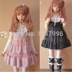 2014 NEW Autumn&Winter dress for Girls&Women Lolita dress white&pink&black Lovely Moe Japanese Warm Velour dress Princess dress