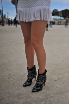 My favorite Isabel Marant boots paired with fringe at PFW.
