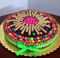 super ideas for birthday cake decorating chocolate Torta Candy, Candy Cakes, Cupcake Cakes, Fantasy Cake, Birthday Chocolates, Birthday Cake Decorating, Cake Birthday, Birthday Kids, Chocolate Decorations