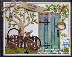 Producten van Marianne Design zijn goed te combineren ***A great combination with prodocts off Marianne Design Birthday Wishes, Birthday Cards, Horse Cards, Beach Cards, Homemade Greeting Cards, Handmade Card Making, Window Cards, Boy Cards, Die Cut Cards