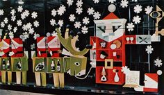 Christmas window for the Design Centre, London - From Graphis issue 94, 1961 | Designer: George Him.