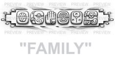 FAMILY Mayan Glyphs Tattoo Design C » ₪ AZTEC TATTOOS ₪ Aztec Mayan Inca Tattoo Designs Instant Download