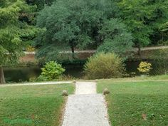 Pathway to the proposed canal from the Governor's Palace at Colonial Williamsburg.