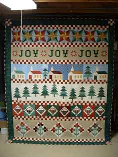 Fons and Porter Christmas Row quilt