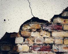 Old Brick Wall Fine Art Photograph - concrete, rustic, aged, urban, rust, red, golden, cream,orange