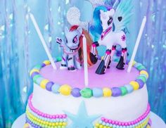 My little pony birthday cake, princess Celestia rainbow dash cake  Shaelyn's Perfectly Pinkie Pie Party