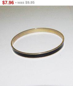 20% OFF SALE Vintage Bangle Bracelet Black by SCLadyDiJewelry
