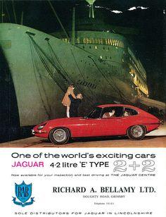 Jaguar E Type - adv Xjr, Jaguar E Type, Jaguar Cars, Jaguar Xk, Best Muscle Cars, Car Posters, Car Advertising, Old Cars, Vintage Ads