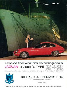 Jaguar E Type Richard A Bellamy Ltd Ad 1968