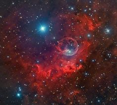 Avid astrophotographer Terry Hancock captured these brilliant images of the Bubble Nebula from the Down Under Observatory in Fremont, Mich.