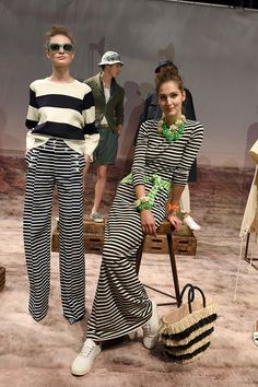 Crew Goes Back to Basics for Spring Scores Big with Stripes Preppy Mode, Preppy Style, My Style, Spring Street Style, Spring Summer Fashion, Spring 2016, Summer Outfits, Cute Outfits, Fashion Show