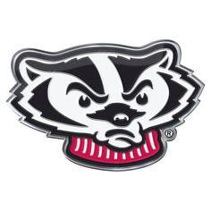 Wisconsin Badgers Auto Emblem Color Alternate Logo #WisconsinBadgers
