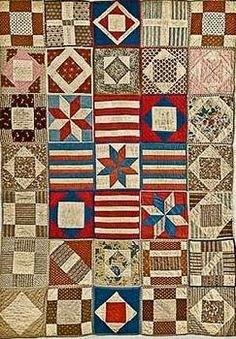 """Sandy F from Oregon sent a picture of her finished sampler.       """"I have to say I loved doing the civil war block each Saturday. After s..."""