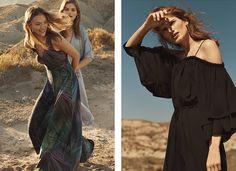 (Left) H&M Long Silk Dress (Middle) H&M Satin Kaftan Dress (Right) H&M Off-the-Shoulder Maxi Dress