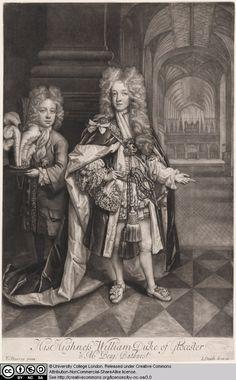 William Duke of Gloucester with Master Bathurst by John Smith after Thomas Murray. Mezzotint.