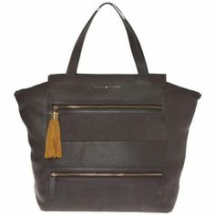 Tommy Hilfiger Women's Andrea Leather Tote - Steel Grey