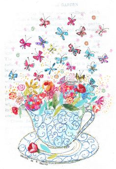Beauty in a Teacup - print.