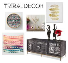 """Tribal Decor"" by fob1fan ❤ liked on Polyvore featuring interior, interiors, interior design, home, home decor, interior decorating and tribaldecor"