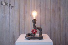 Lampe spirale tuyauteries industrielles par LightMyPipe sur Etsy