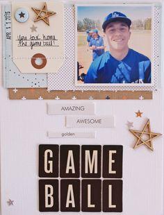 Game Ball by Michellewedertz - Scrapbook.com