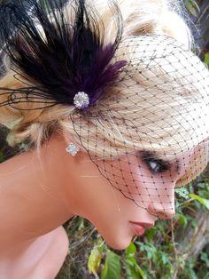 bridal fascinator and veil