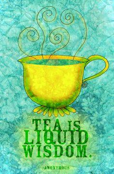 El té es sabiduría líquida