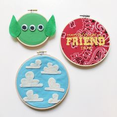 DIY: Toy Story Embroidered Hoop Art