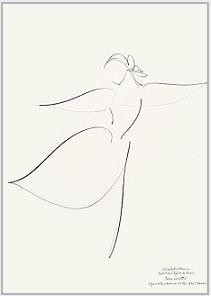 "Drawing by Stanley Roseman of Paris Opera star dancer Elisabeth Platel, ""Tchaikovsky Pas de Deux,"" 1996, Musee d'Art Moderne et Contemporain, Strasbourg."