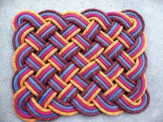 Woven Rug - Made from climbing rope!