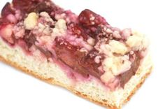 German Food Guide - Recipe: Zwetschgenkuchen (Plum Cake) We grew up on this. Cherry was my fav