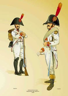Spanish Line Infantry & Officer