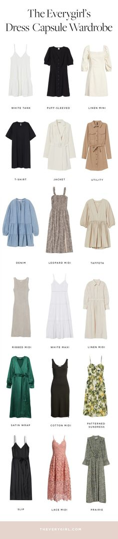 The Dresses Every Woman Should Have in Her Closet (The Everygirl) Capsule Outfits, Fashion Capsule, Dress Outfits, Capsule Wardrobe, Dresses, Basic Outfits, Occasion Wear, Comfortable Fashion, Every Woman