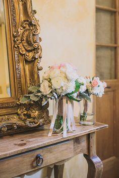 pastel wedding bouquet #bouquet #pastel #weddingchicks http://www.weddingchicks.com/2014/02/21/classic-pink-and-gold-wedding/