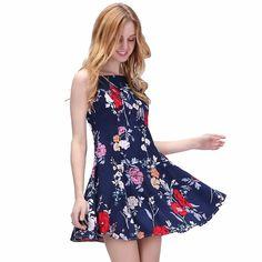 Dresses women s short floral dress ladies beach bohem bohemia vintage thin  elegant party dresses sexy women d8c18824d