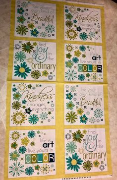 """A Friend Is A Gift Cotton Quilting Panel 23.5/"""" x 44/"""" Mary Englebreit"""