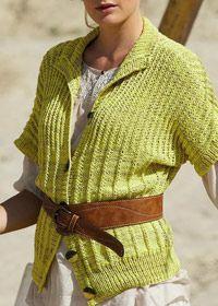 Free knitting pattern: Patons Linen Shadow wrap top